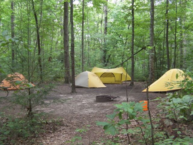Backwoods Campsite at Falls Creek Cabins and Campgrounds