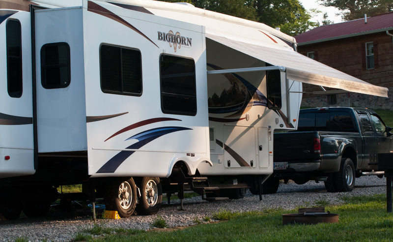 RV Sites  at Falls Creek Cabins and Campgrounds