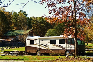 Large RV with trailer