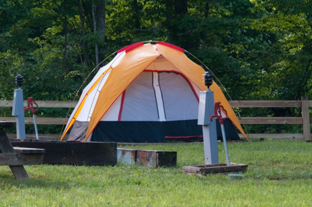 Water and Electric Tent Sites  at Falls Creek Cabins and Campgrounds